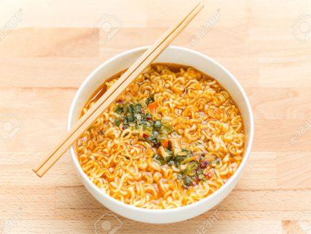 Instant Noodles with chopstick